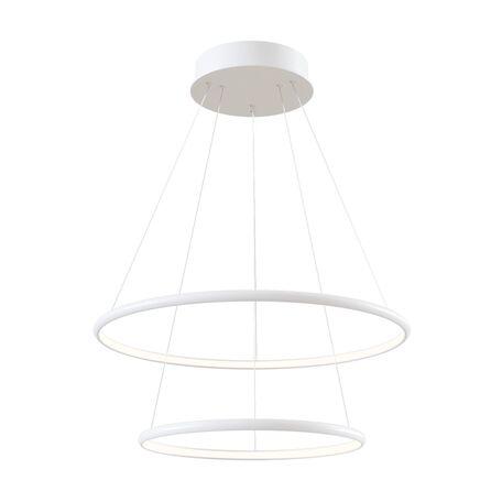 Подвесной светодиодный светильник Maytoni Nola MOD807-PL-02-60-W, LED 60W 4100K 3300lm CRI80, белый, металл, металл с пластиком, пластик