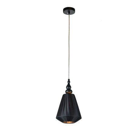 Подвесной светильник Maytoni Majorca MOD981-PL-01-B, 1xE14x40W, черный, металл с пластиком, текстиль