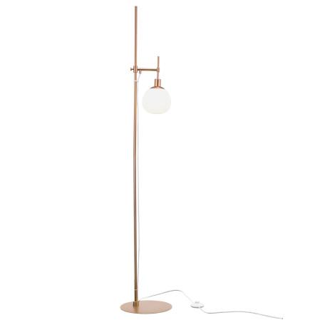 Торшер Maytoni Modern Erich MOD221-FL-01-G, 1xE14x40W, бронза, белый, металл, стекло