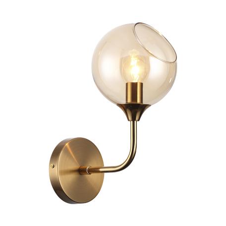 Бра Lumion Willow 4460/1W, 1xE14x60W, матовое золото, янтарь, металл, стекло