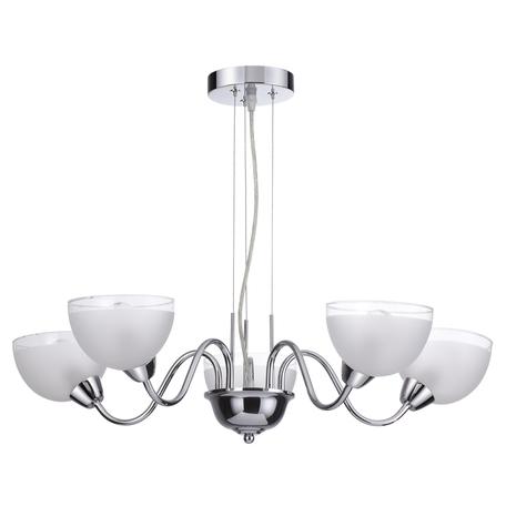 Подвесная люстра Lumion Alora 4461/5, 5xE14x60W, хром, белый, металл, стекло