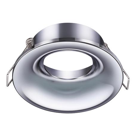 Встраиваемый светильник Novotech Metis 370639, 1xGU10x50W, хром, металл
