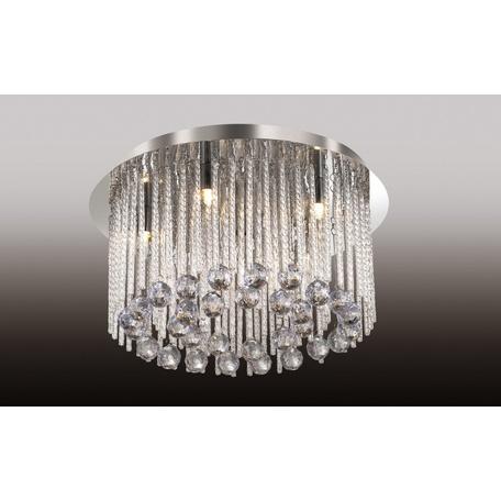 Люстра-каскад Odeon Light Esipa 2708/6C, 6xG9x40W, хром, прозрачный, металл, стекло, хрусталь