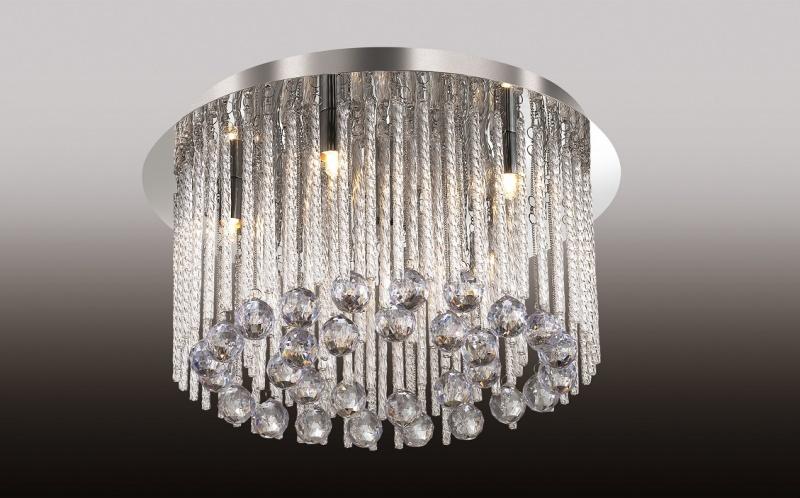 Люстра-каскад Odeon Light Esipa 2708/6C, 6xG9x40W, хром, прозрачный, металл, стекло, хрусталь - фото 1