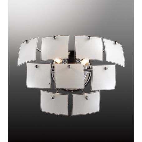 Настенный светильник Odeon Light Vorm 2655/2W, 2xG9x40W, хром, белый, металл, стекло