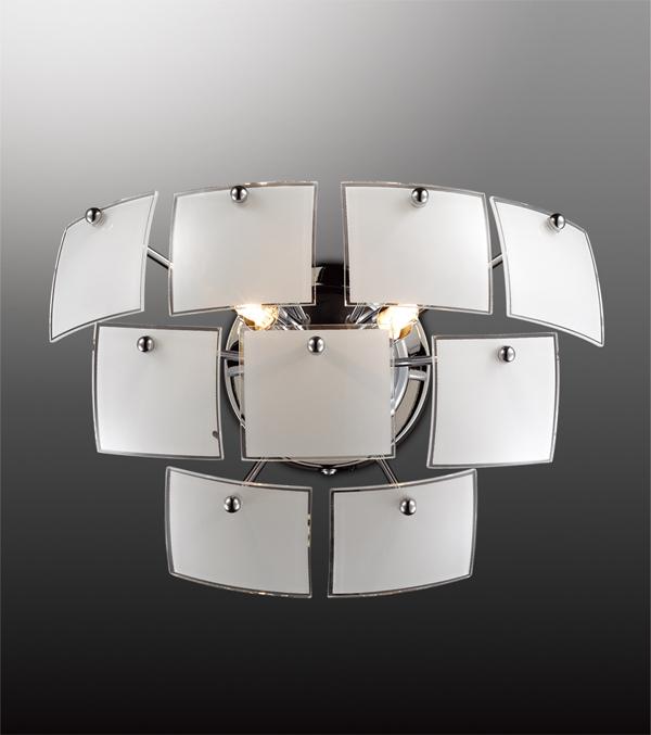 Настенный светильник Odeon Light Vorm 2655/2W, 2xG9x40W, хром, белый, металл, стекло - фото 1