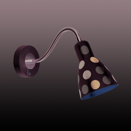 Настенный светильник Odeon Light Pika 2595/1W, 1xE27x40W, белый, хром, разноцветный, металл
