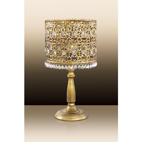 Настольная лампа Odeon Light Salona 2641/1T, 1xE14x40W, бронза, прозрачный, металл, хрусталь