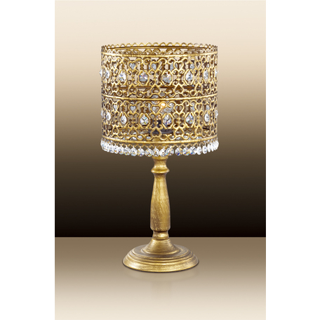 Настольная лампа Odeon Light Salona 2641/1T, 1xE14x40W, бронза, прозрачный, металл, металл со стеклом/хрусталем, хрусталь