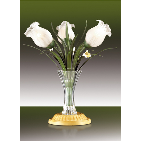 Настольная лампа Odeon Light Merida 2652/3T, 3xE14x40W, желтый, зеленый, белый, стекло, керамика
