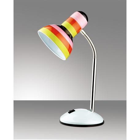 Настольная лампа Odeon Light Standing Flip 2593/1T, 1xE27x60W, белый, разноцветный, металл