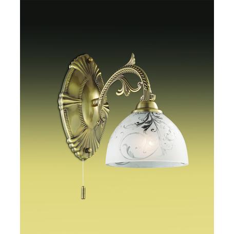 Бра Odeon Light Casti 2542/1W, 1xE27x40W, бронза, матовый, прозрачный, металл, стекло