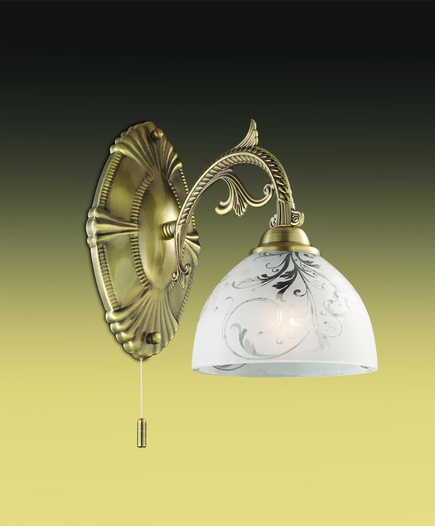 Бра Odeon Light Casti 2542/1W, 1xE27x40W, бронза, матовый, прозрачный, металл, стекло - фото 1
