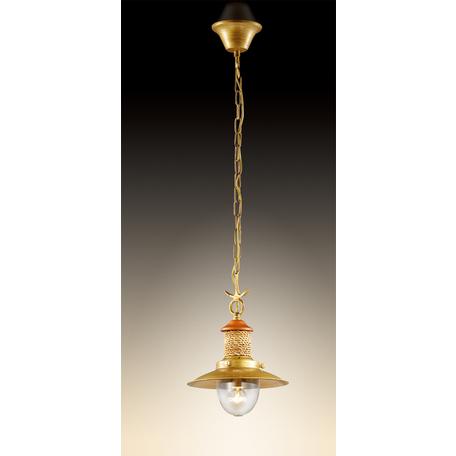 Подвесной светильник Odeon Light Tarsu 2617/1, 1xE14x40W, бронза, коричневый, бежевый, прозрачный, дерево, металл, текстиль, стекло