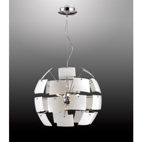 Подвесной светильник Odeon Light Classic Vorm 2655/6, 6xG9x40W, хром, белый, металл, стекло