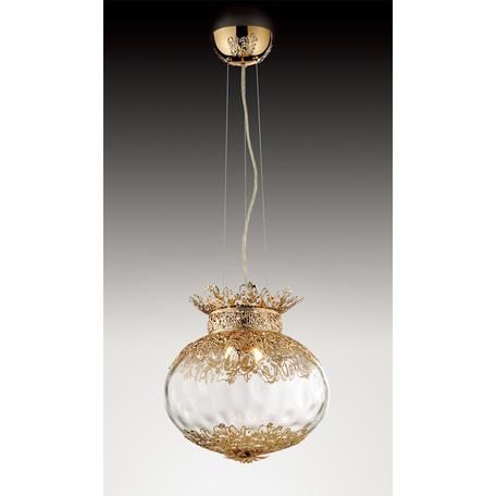 Подвесной светильник Odeon Light Petra 2673/4, 4xG9x40W, золото, прозрачный, металл, стекло