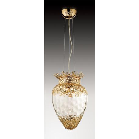 Подвесной светильник Odeon Light Classic Petra 2675/4, 4xG9x40W, золото, прозрачный, металл, стекло