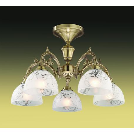 Потолочная люстра Odeon Light Casti 2542/5C, 5xE27x40W, бронза, дымчатый, прозрачный, металл, стекло - миниатюра 1