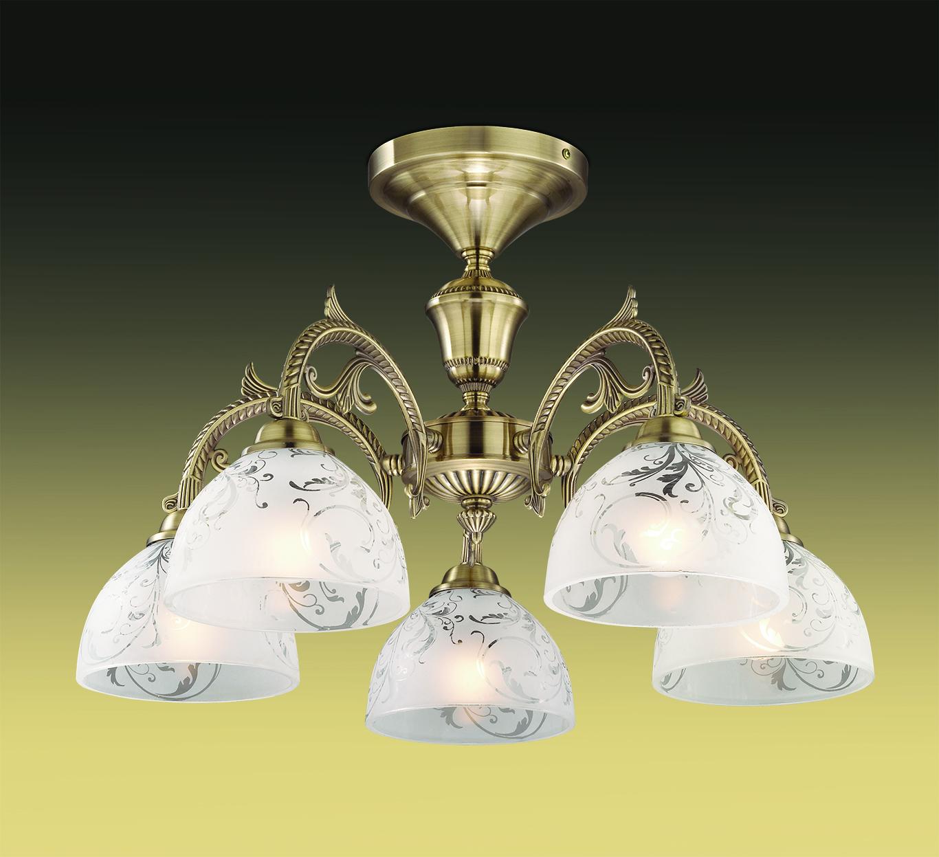 Потолочная люстра Odeon Light Casti 2542/5C, 5xE27x40W, бронза, дымчатый, прозрачный, металл, стекло - фото 1
