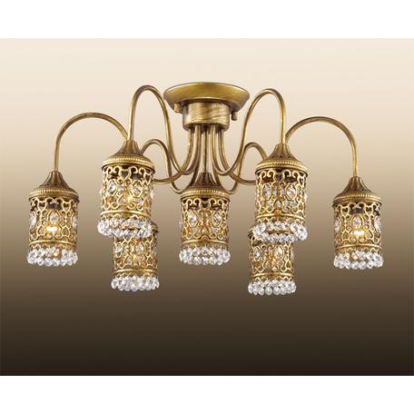 Потолочная люстра Odeon Light Salona 2641/7C, 7xE14x40W, бронза, прозрачный, металл, хрусталь