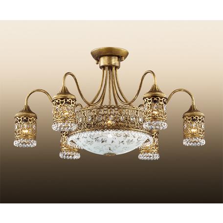 Потолочная люстра Odeon Light Salona 2641/9C, 9xE14x40W, бронза, дымчатый, прозрачный, металл, хрусталь, стекло