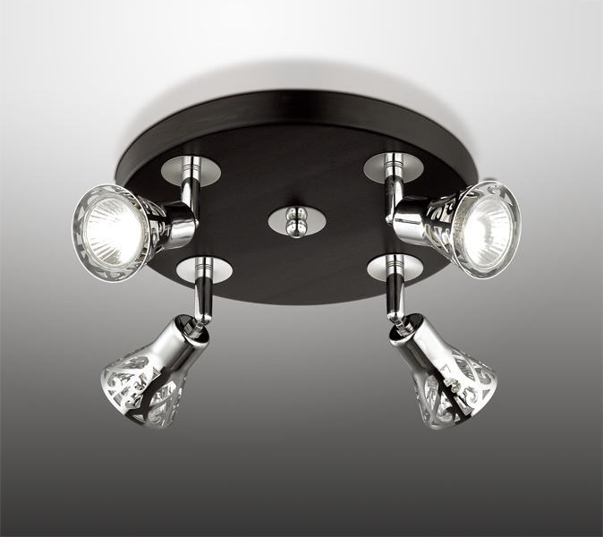 Потолочная люстра с регулировкой направления света Odeon Light Bierzo 2612/4C, 4xGU10x50W, венге, хром, металл - фото 1