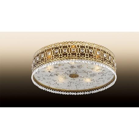 Потолочный светильник Odeon Light Salona 2641/5C, 5xE14x40W, бронза, прозрачный, металл со стеклом, стекло, хрусталь