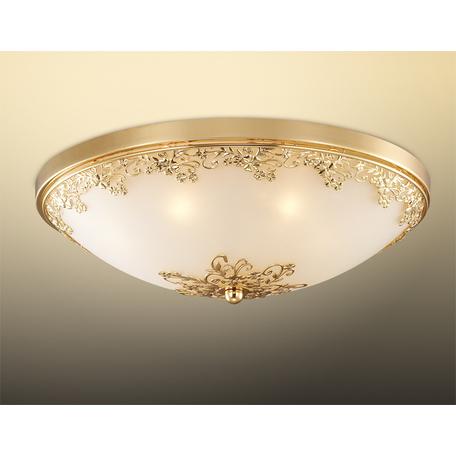 Потолочный светильник Odeon Light Alesia 2676/7C, 7xG9x40W, золото, металл, стекло