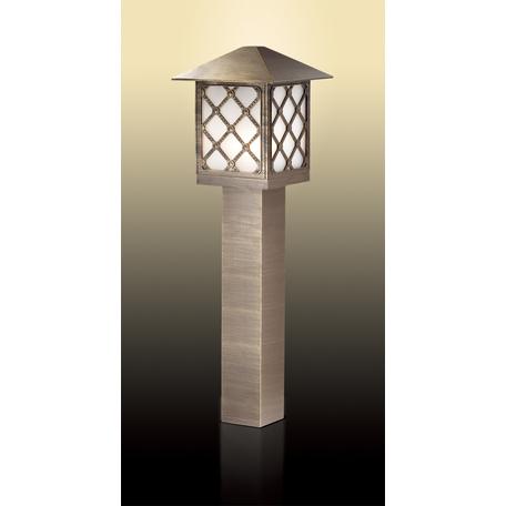 Садово-парковый светильник Odeon Light Anger 2649/1A, IP44, 1xE27x60W, коричневый, белый, металл, металл со стеклом