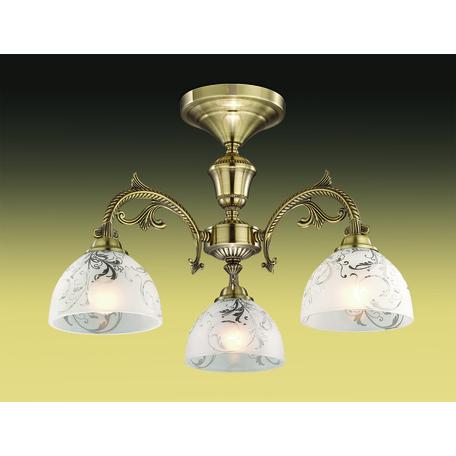 Потолочная люстра Odeon Light Casti 2542/3C, 3xE27x40W, бронза, матовый, прозрачный, металл, стекло