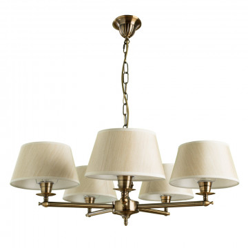 Arte Lamp York A2273LM-5RB, 5xE14x40W, бежевый