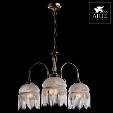 Arte Lamp Victoriana A3191LM-3AB, 3xE27x60W, белый - миниатюра 5