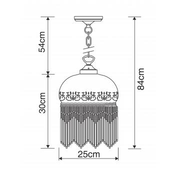 Схема с размерами Arte Lamp A3191SP-1AB