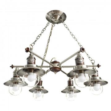 Arte Lamp Sailor A4524LM-6AB, 6xE27x60W, коричневый, прозрачный