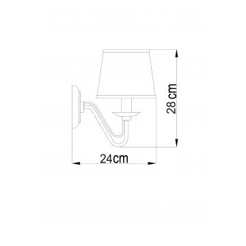 Схема с размерами Arte Lamp A1150AP-1CC
