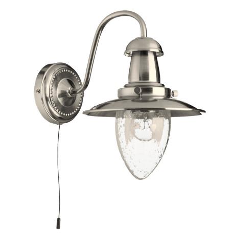 Бра Arte Lamp Fisherman A5518AP-1SS, 1xE27x60W, серебро, прозрачный, металл, стекло