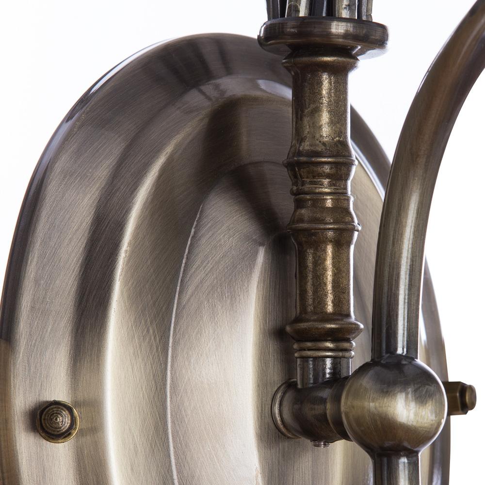 Бра Arte Lamp Salvador A6351AP-1AB, 1xE14x60W, бронза, прозрачный, металл, ковка, металл со стеклом - фото 4