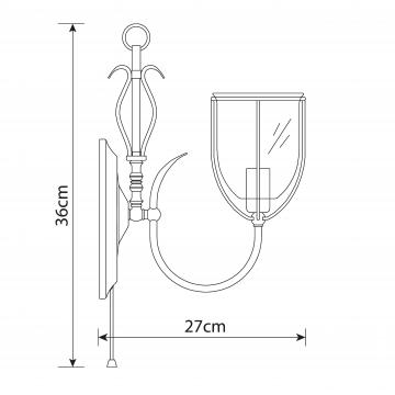 Схема с размерами Arte Lamp A6351AP-1AB
