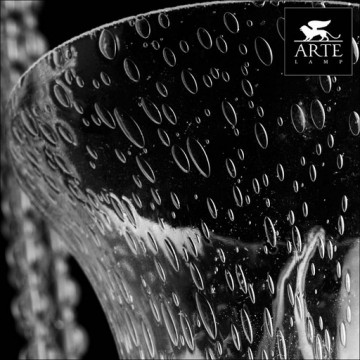 Arte Lamp Malia A6586LM-5BK, 5xE14x40W, черный, прозрачный, металл, стекло - миниатюра 3