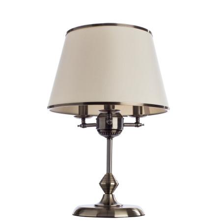 Настольная лампа Arte Lamp Alice A3579LT-3AB, 3xE14x40W, бронза, бежевый, металл, текстиль
