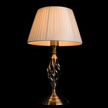 Настольная лампа Arte Lamp Zanzibar A8390LT-1AB, 1xE27x60W, бронза, белый, металл, текстиль - миниатюра 2