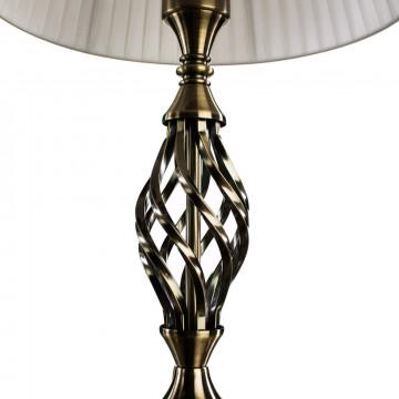 Настольная лампа Arte Lamp Zanzibar A8390LT-1AB, 1xE27x60W, бронза, белый, металл, текстиль - миниатюра 3