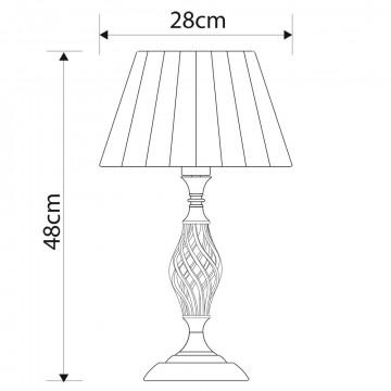 Схема с размерами Arte Lamp A8390LT-1AB