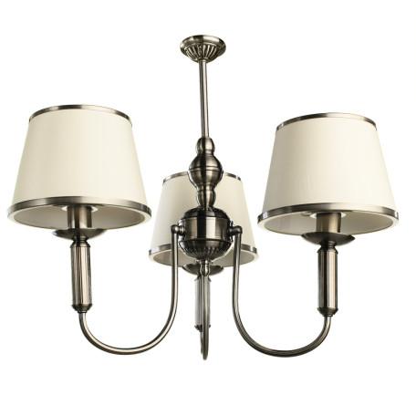 Подвесная люстра Arte Lamp Alice A3579LM-3AB, 3xE14x40W, бронза, бежевый, металл, текстиль