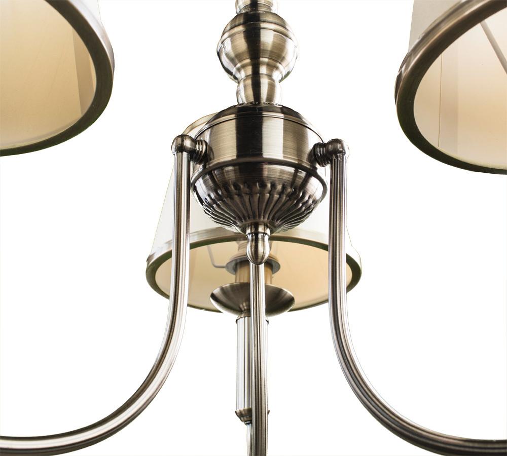 Подвесная люстра Arte Lamp Alice A3579LM-3AB, 3xE14x40W, бронза, бежевый, металл, текстиль - фото 4
