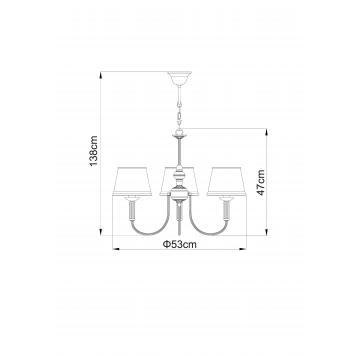 Схема с размерами Arte Lamp A3579LM-3AB