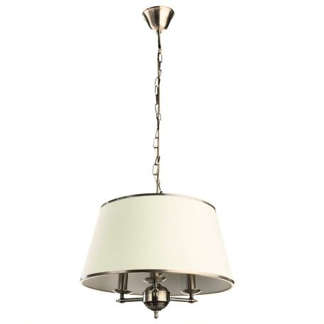 Подвесная люстра Arte Lamp Alice A3579SP-3AB, 3xE14x40W, бронза, бежевый, металл, текстиль