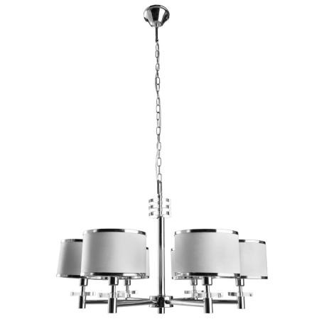 Подвесная люстра Arte Lamp Furore A3990LM-6CC, 6xE14x60W, хром, белый с хромом, металл, текстиль