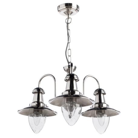 Подвесная люстра Arte Lamp Fisherman A5518LM-3SS, 3xE27x60W, серебро, прозрачный, металл, стекло