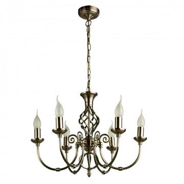 Подвесная люстра Arte Lamp Zanzibar A8392LM-6AB, 6xE14x60W, бронза, металл